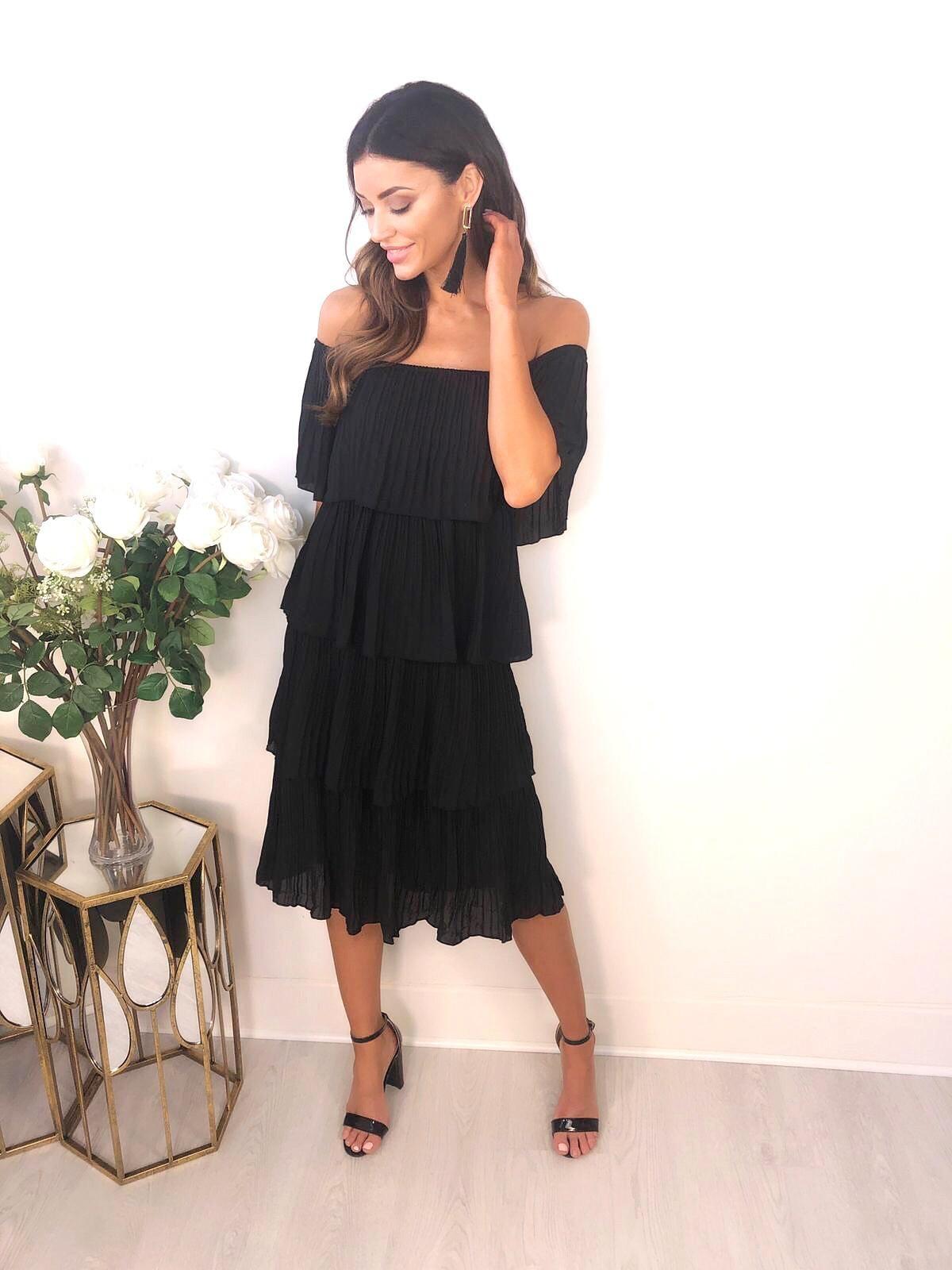 1f7935117d Brooklyn Black Layered Ruffle Dress